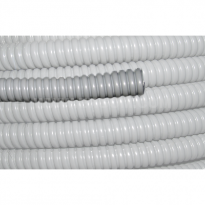 Flexible protective conduit made of galvanized steel, PVC coated