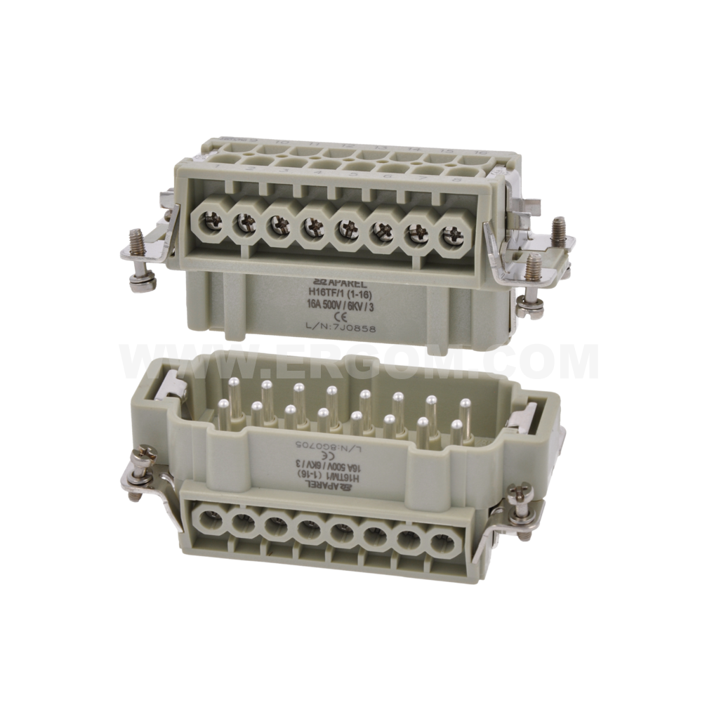 Multi-circuit heavy-duty connectors, IP65, type H - Switchgear and
