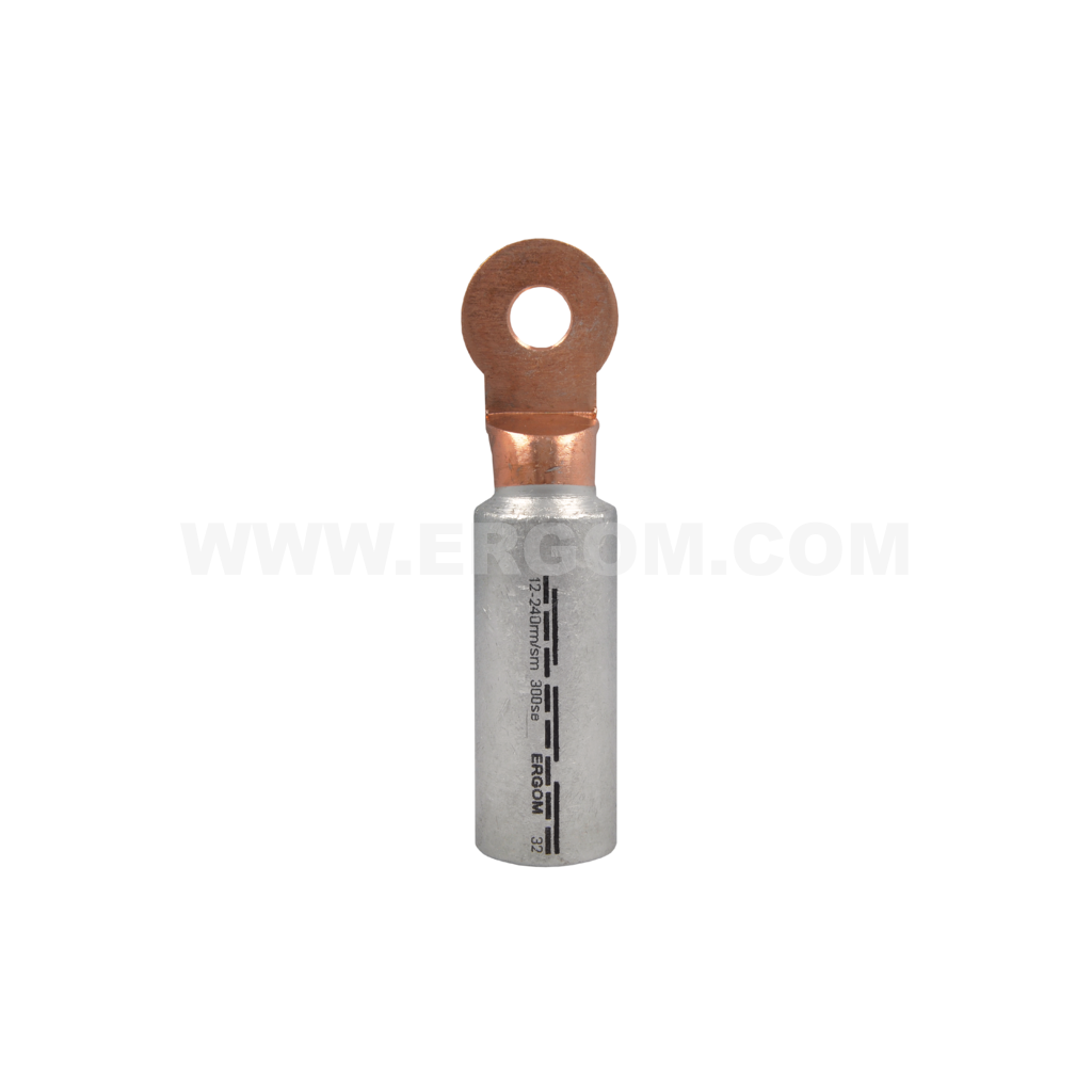 Aluminium-copper longitudinally sealed tubular terminals, KCA type