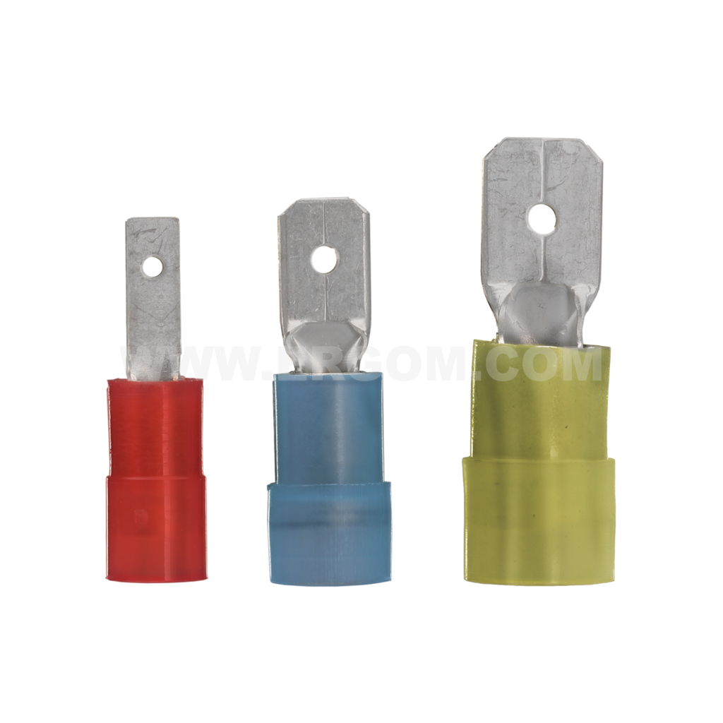 Insulated male push-on connectors, WI type