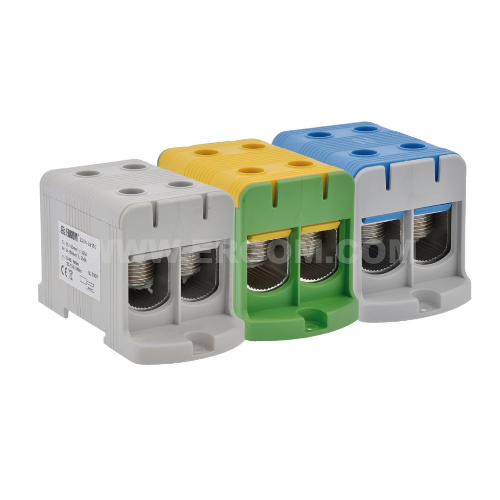 Double-circuit connector, ZJUN-2x150 type: for 150 mm² wires   800V