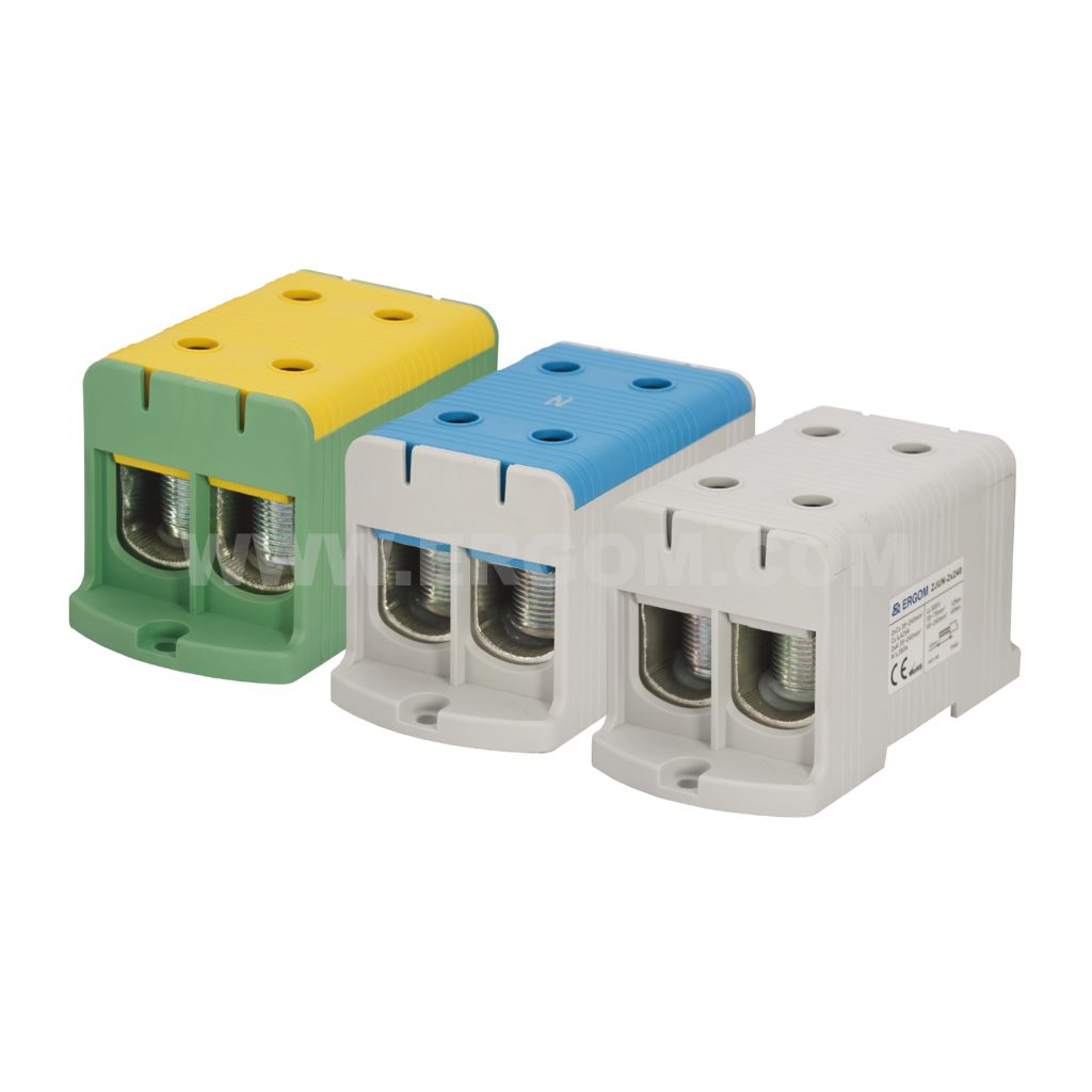 Double-circuit connector, ZJUN-2x240 type: for 240 mm² wires   800V