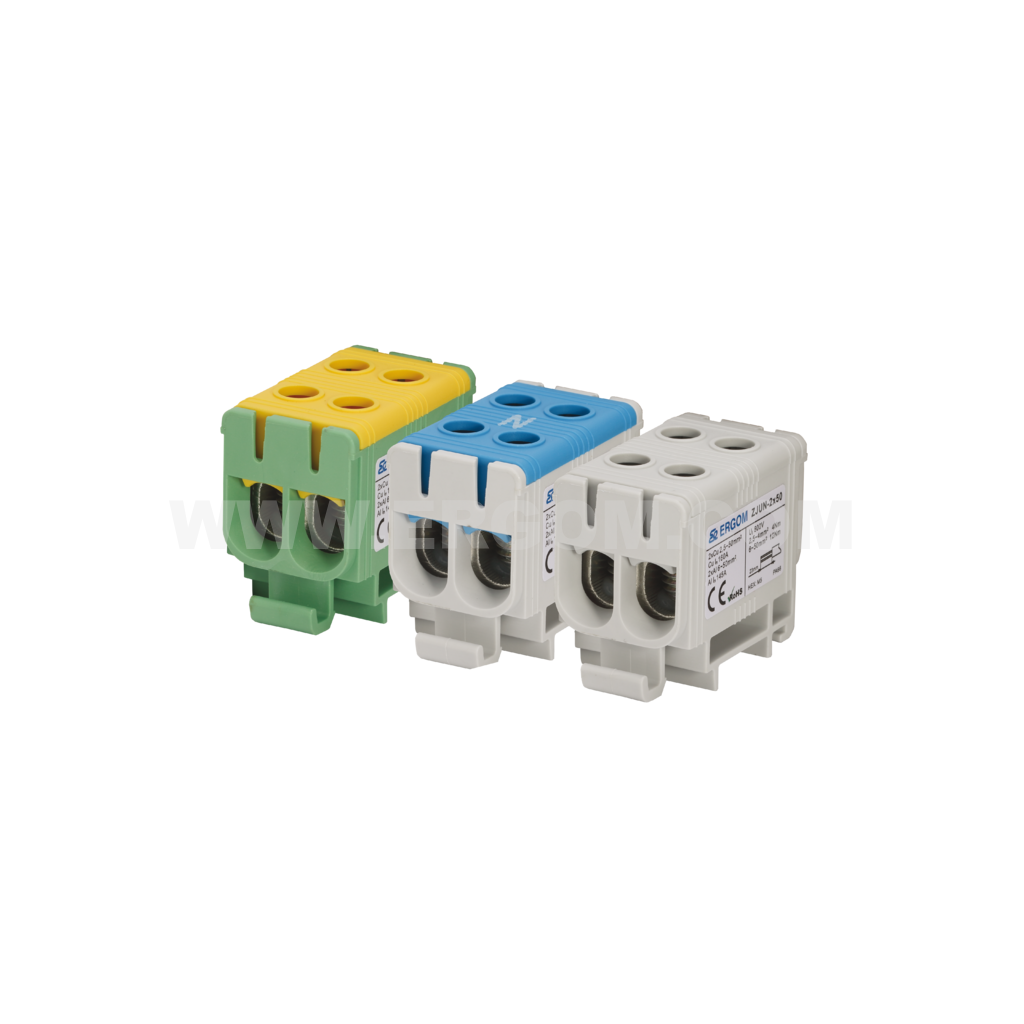 Double-circuit connector, ZJUN-2x50 type: for 50 mm² wires   1000V