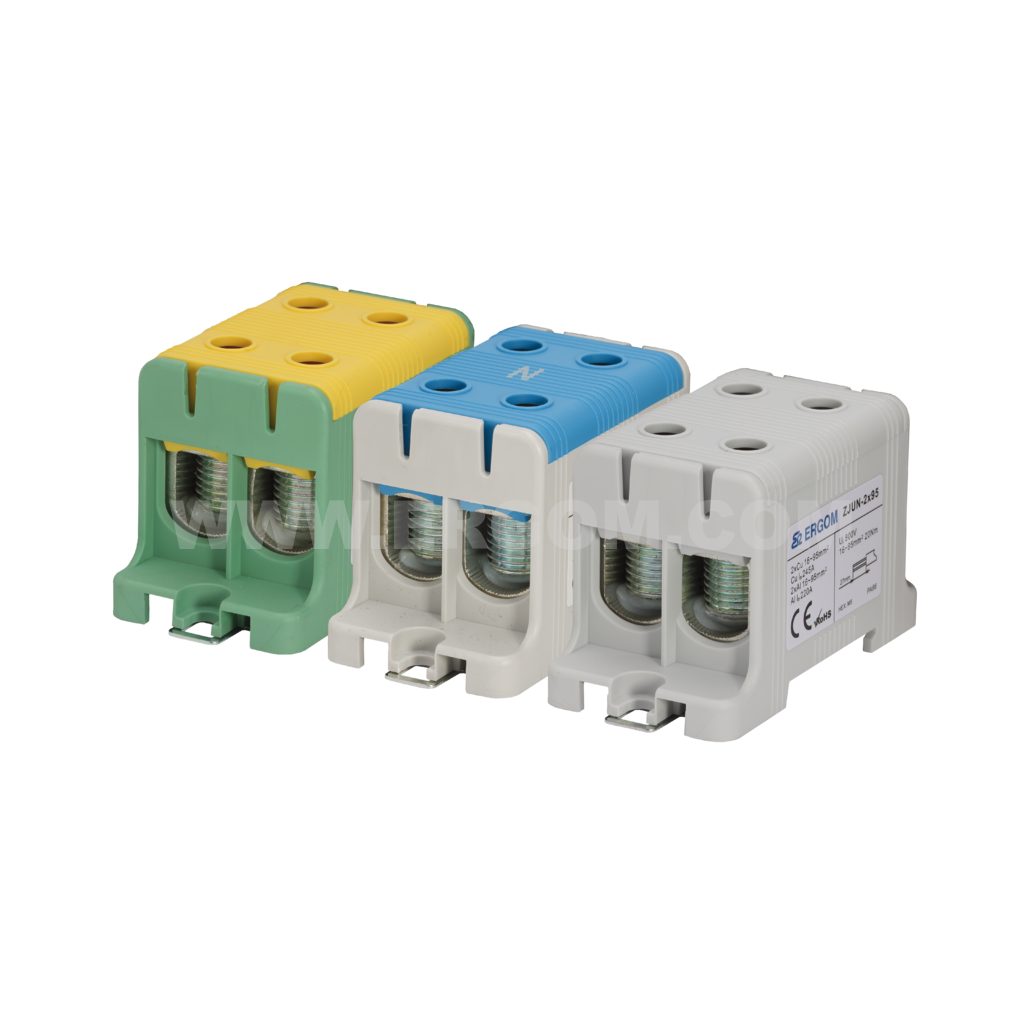 Double-circuit connector, ZJUN-2x95 type: for 95 mm² wires   1000V