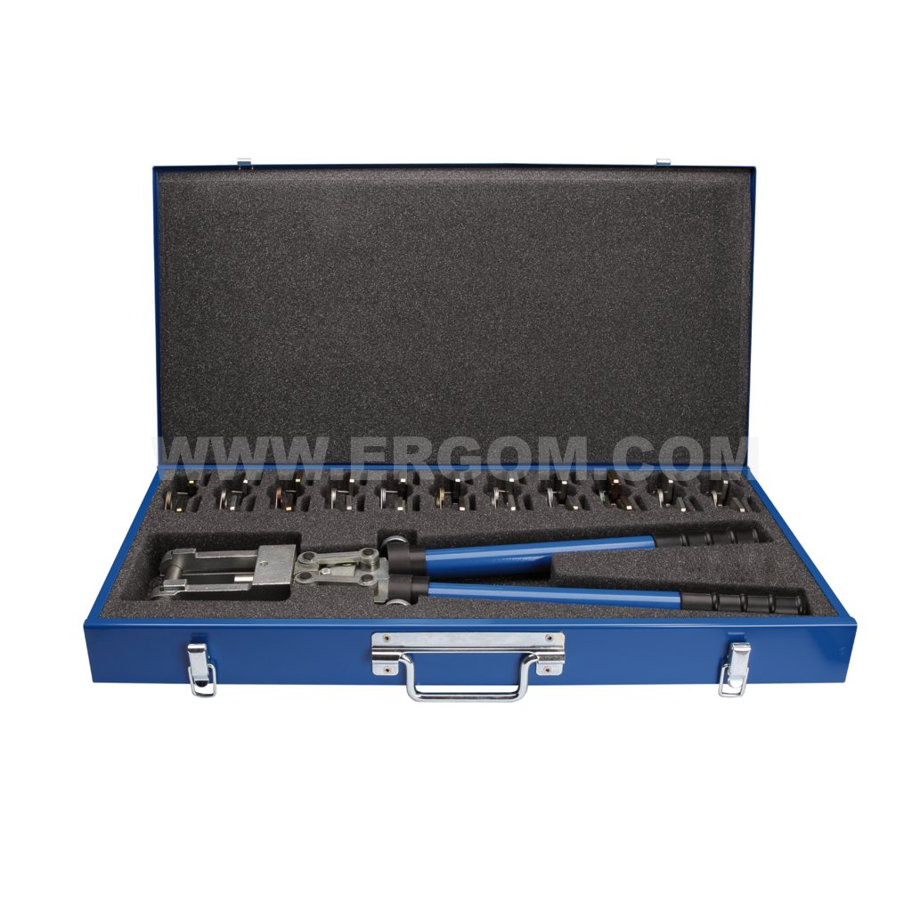 Crimping tool set with dies, EK19-DIN