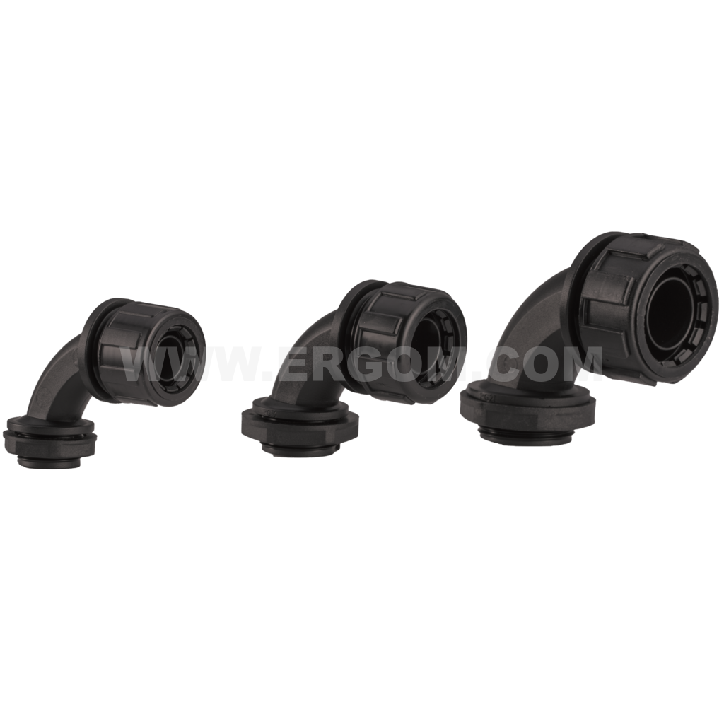 Elbow fitting for WTG protective conduits, WKD type
