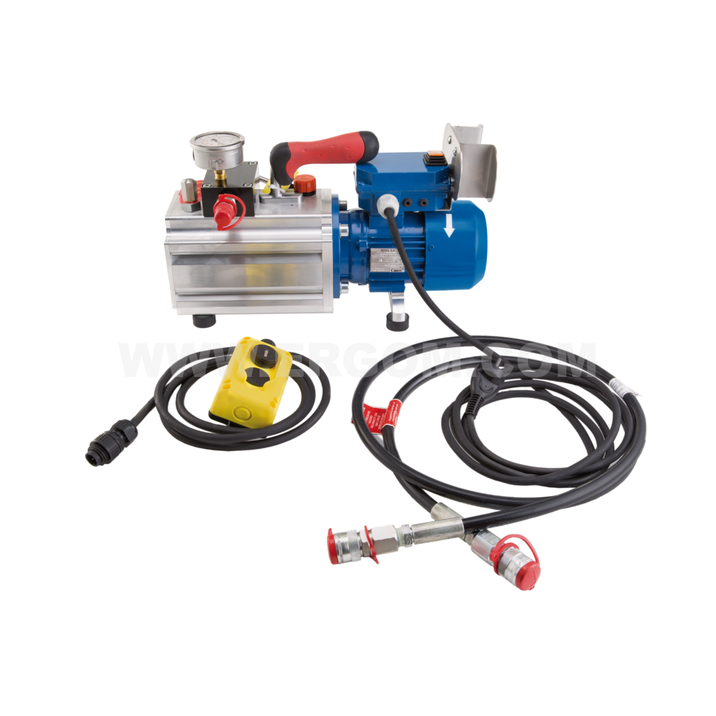 Battery-powered professional hydraulic pump, HE 702 R MINI