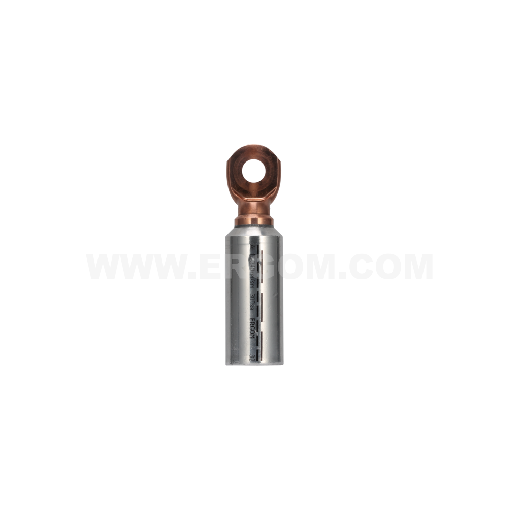 Aluminium-copper longitudinally sealed tubular terminals, KMA type