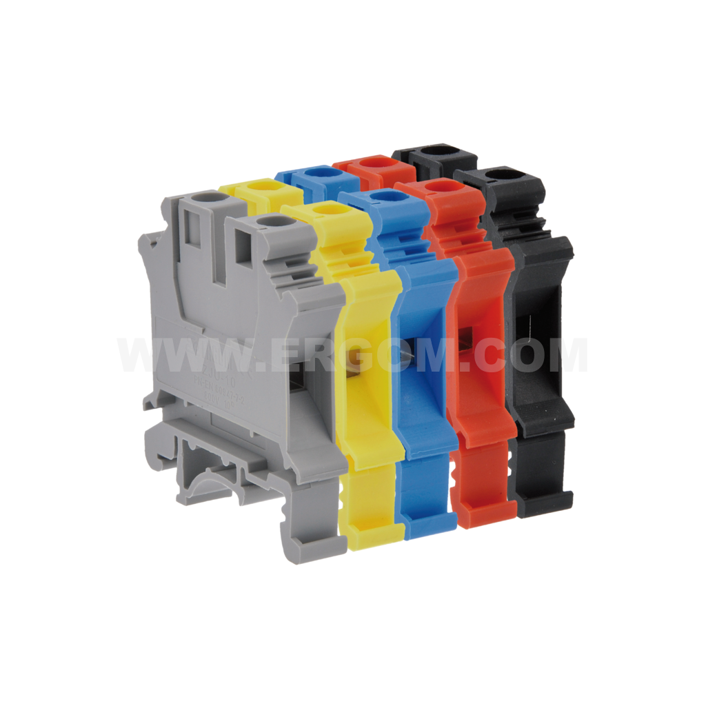 Single-circuit connector, ZJU2-6 type: for 6 mm² wires   800V