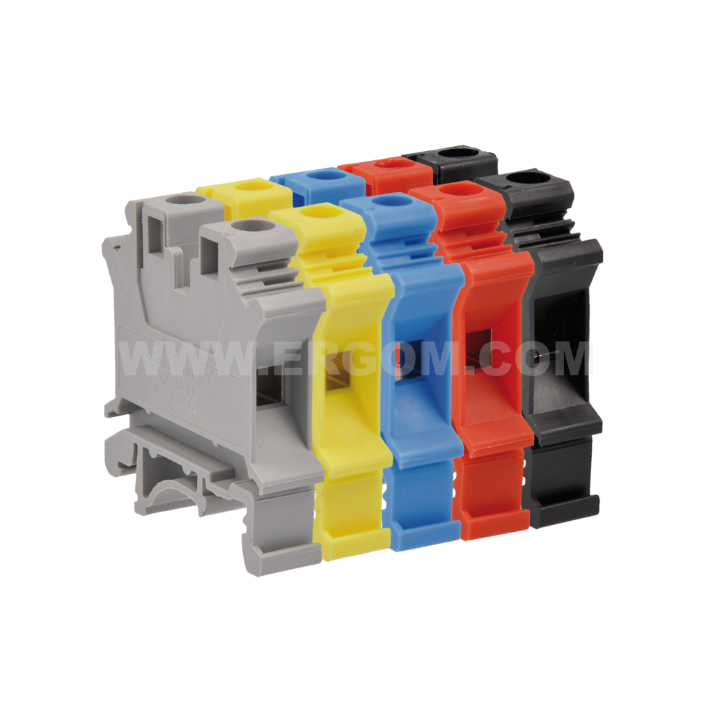 Single-circuit connector, ZJU2-10 type: for 10 mm² wires   800V