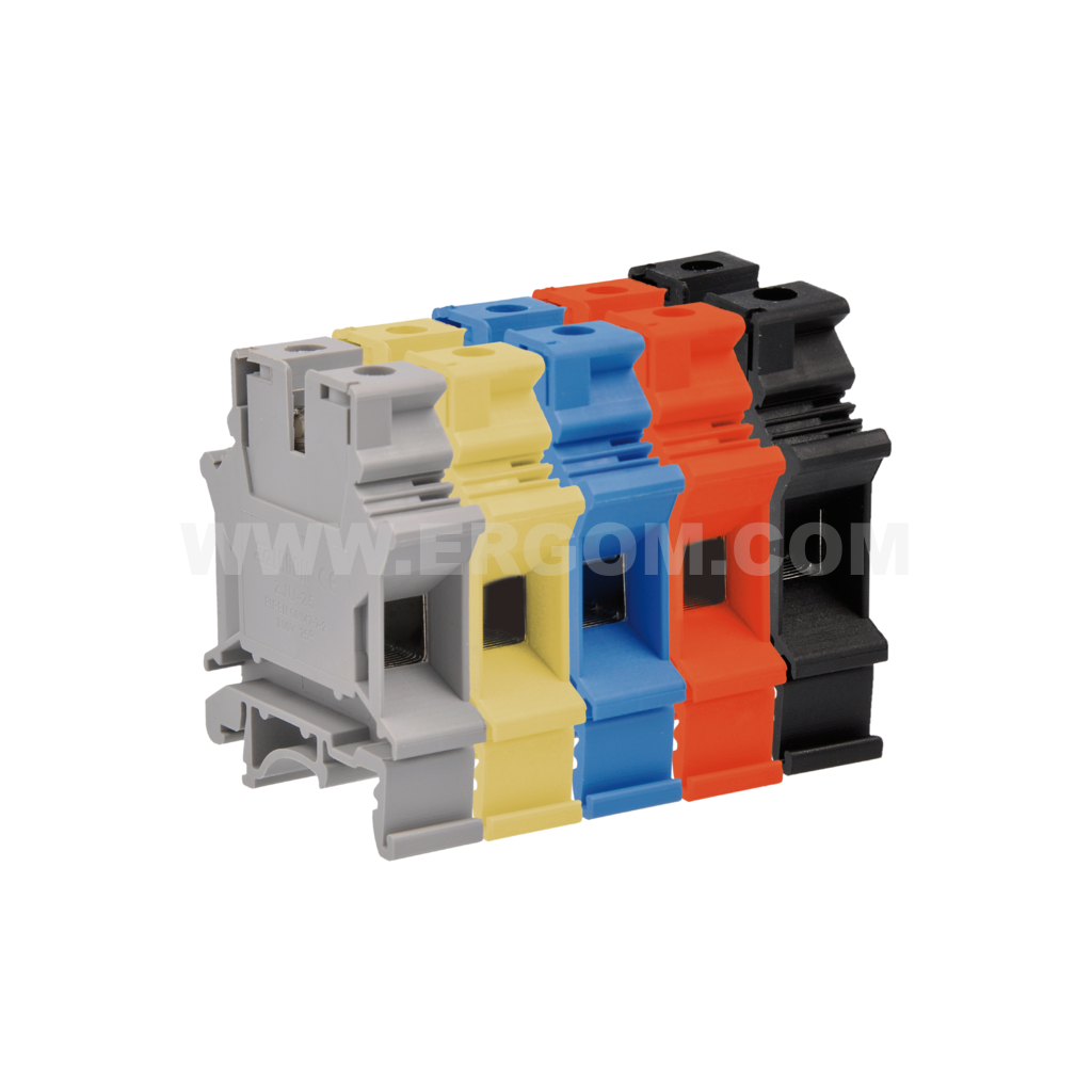 Single-circuit connector, ZJU2-16 type: for 16 mm² wires   800V