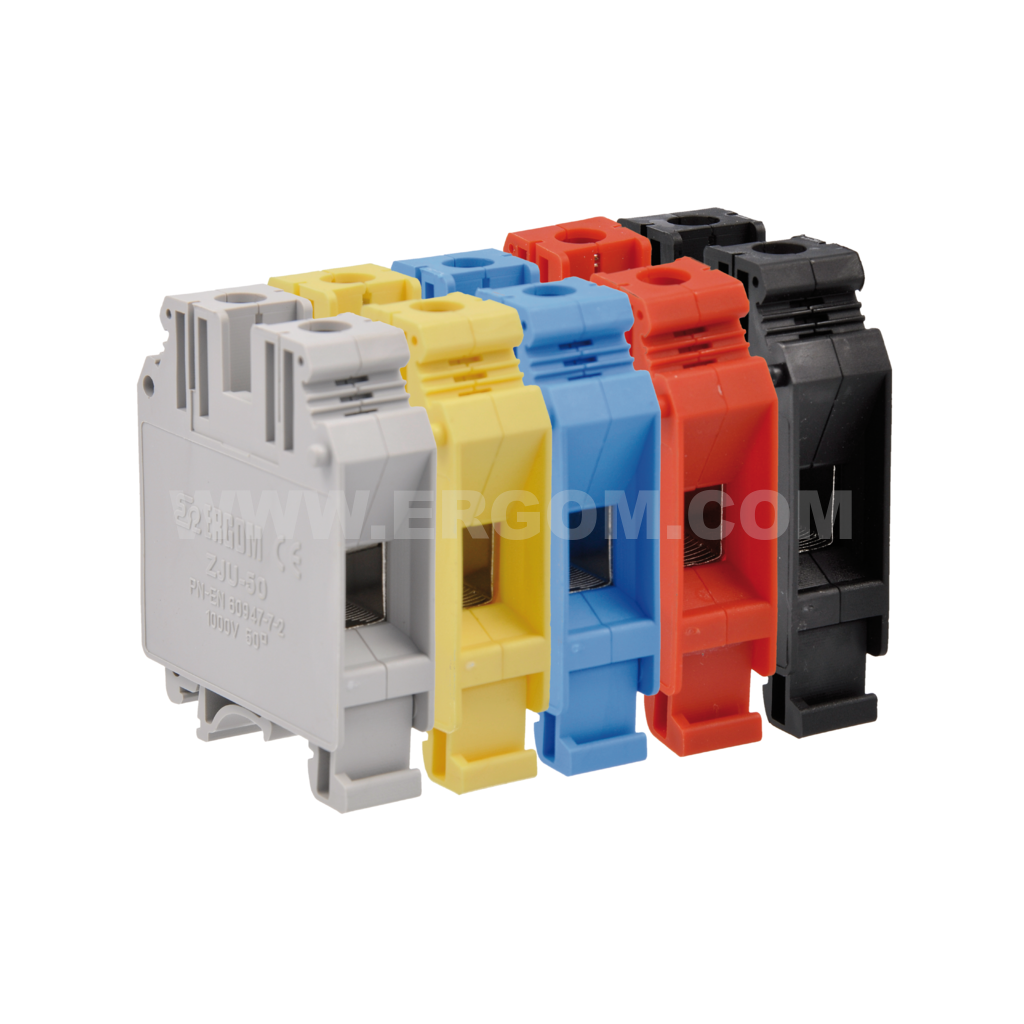 Single-circuit connector, ZJU2-35 type: for 35 mm² wires   800V