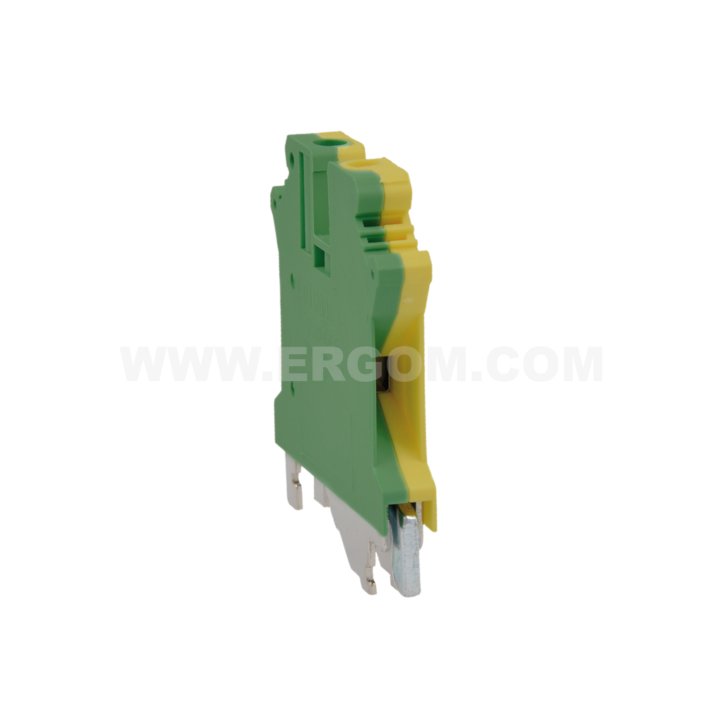 Single-circuit connector, ZJU2-4PE type: for 4 mm² wires   800V