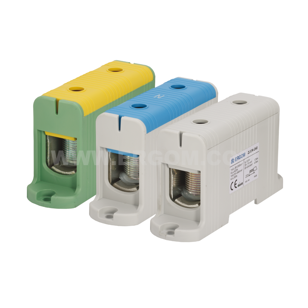Single-circuit connector ZJUN-240 type: for 240 mm² wires   1000V