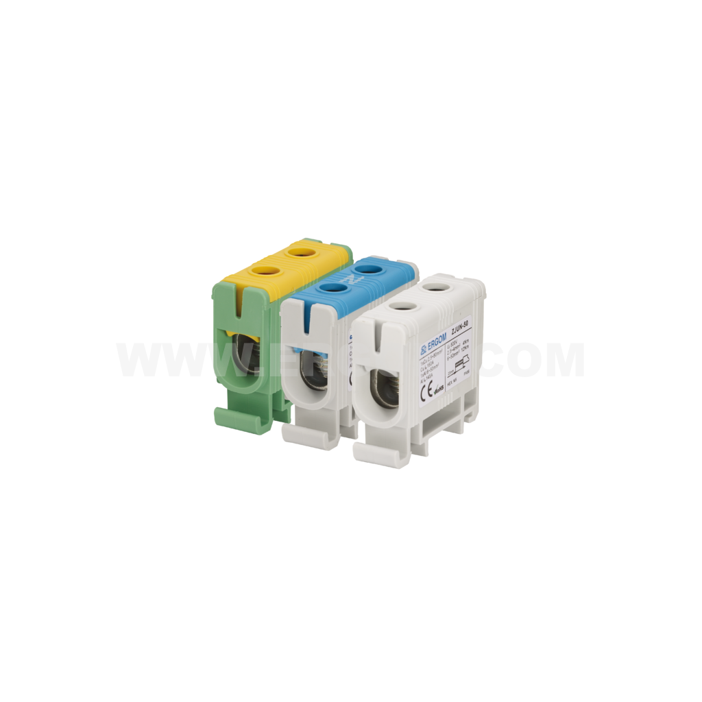 Single-circuit connector ZJUN-50 type: for 50 mm² wires   1000V