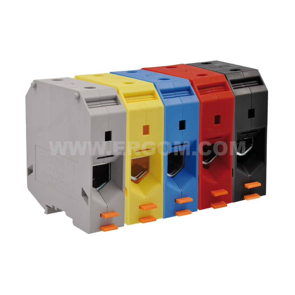 Single-circuit connector, ZJU2-95 type: for 95 mm² wires   800V