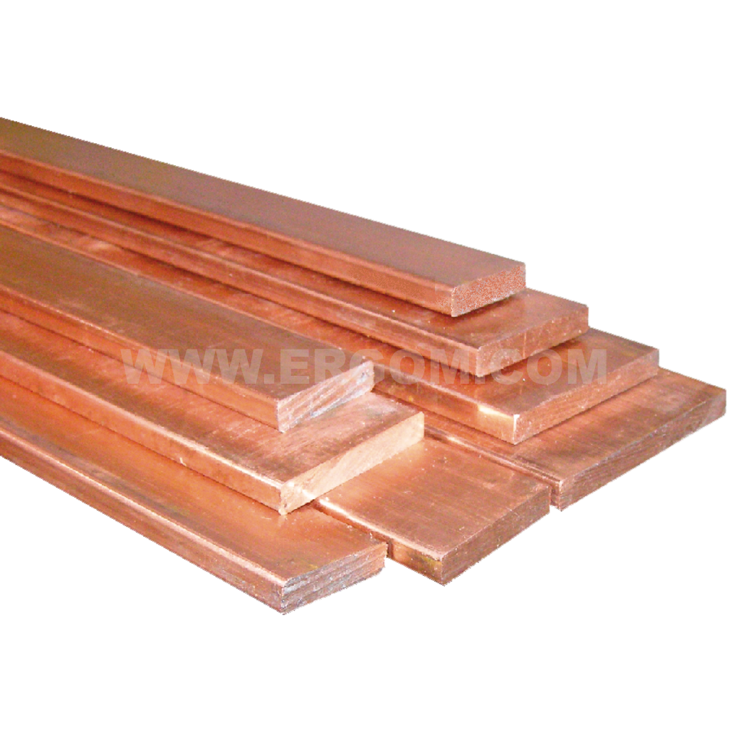 Flat copper busbars, PMP type