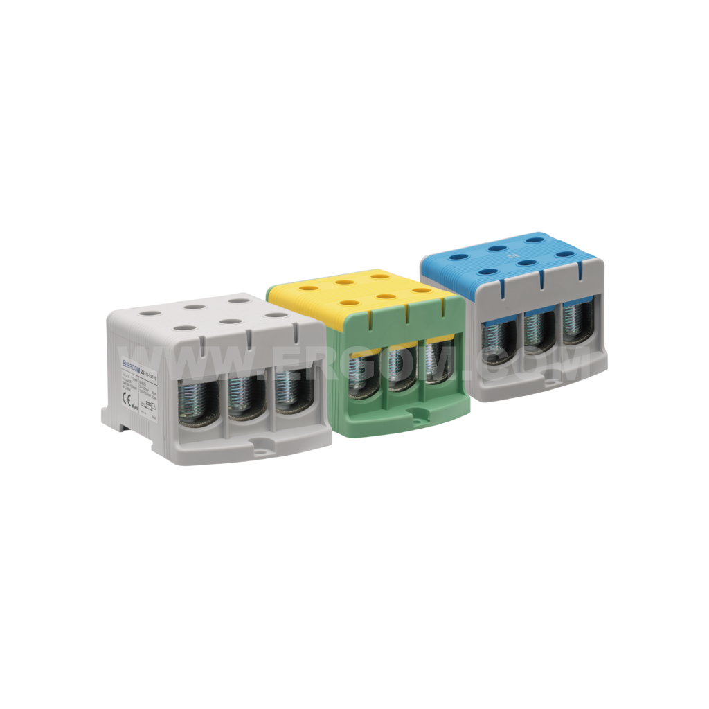 Triply-circuit connector, ZJUN-3x150 type: for 150 mm² wires   1000V