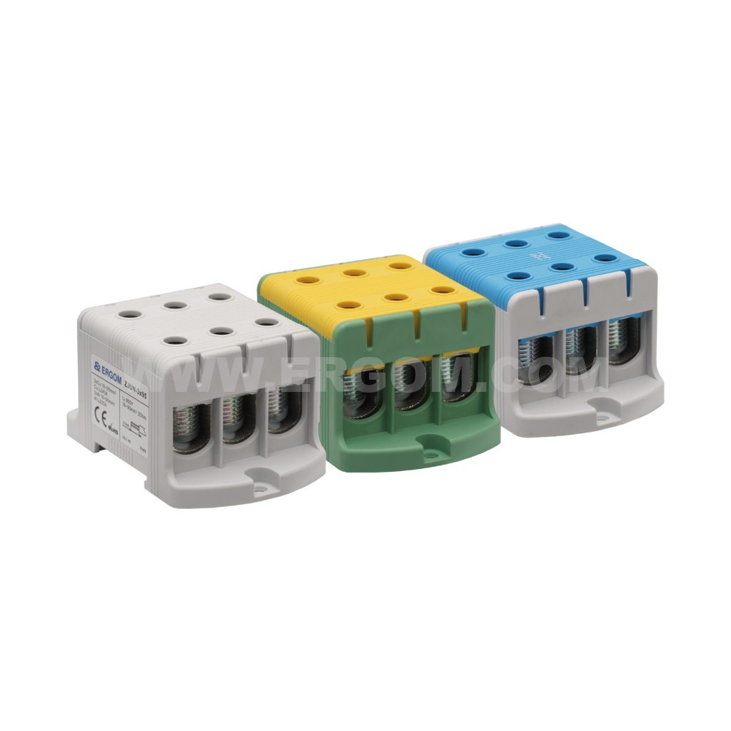 Triply-circuit connector, ZJUN-3x95 type: for 95 mm² wires   1000V