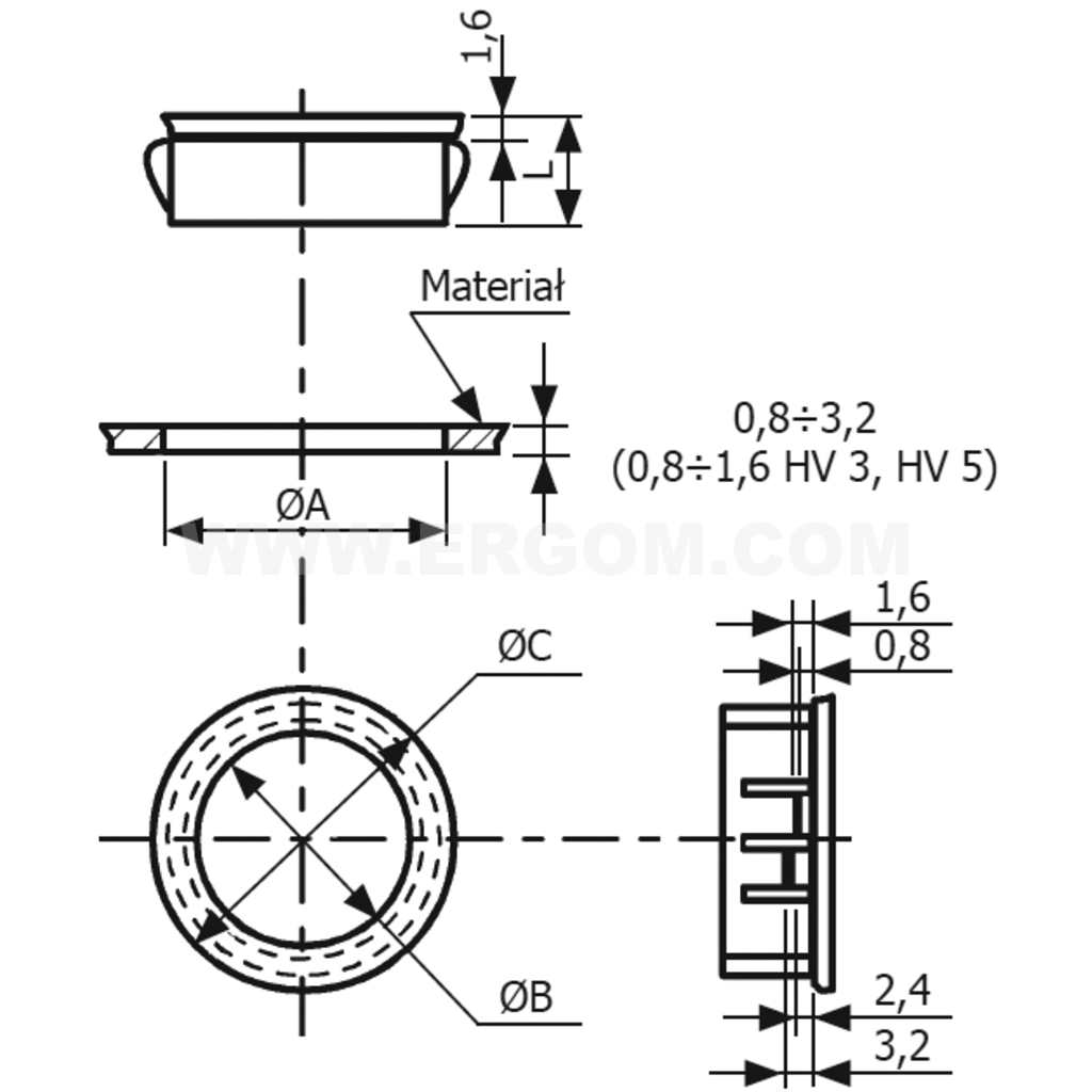 cable bushing hv type