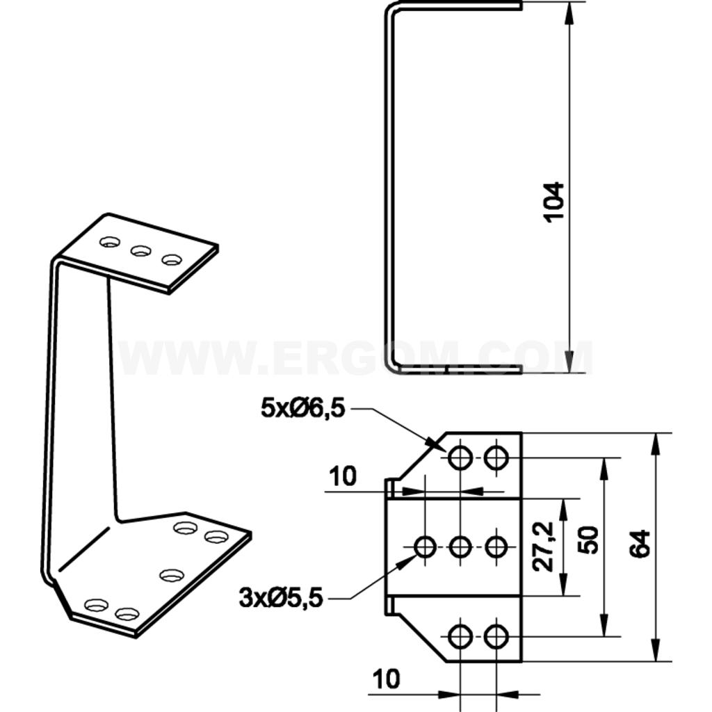 set of din rails with 2 brackets  rz