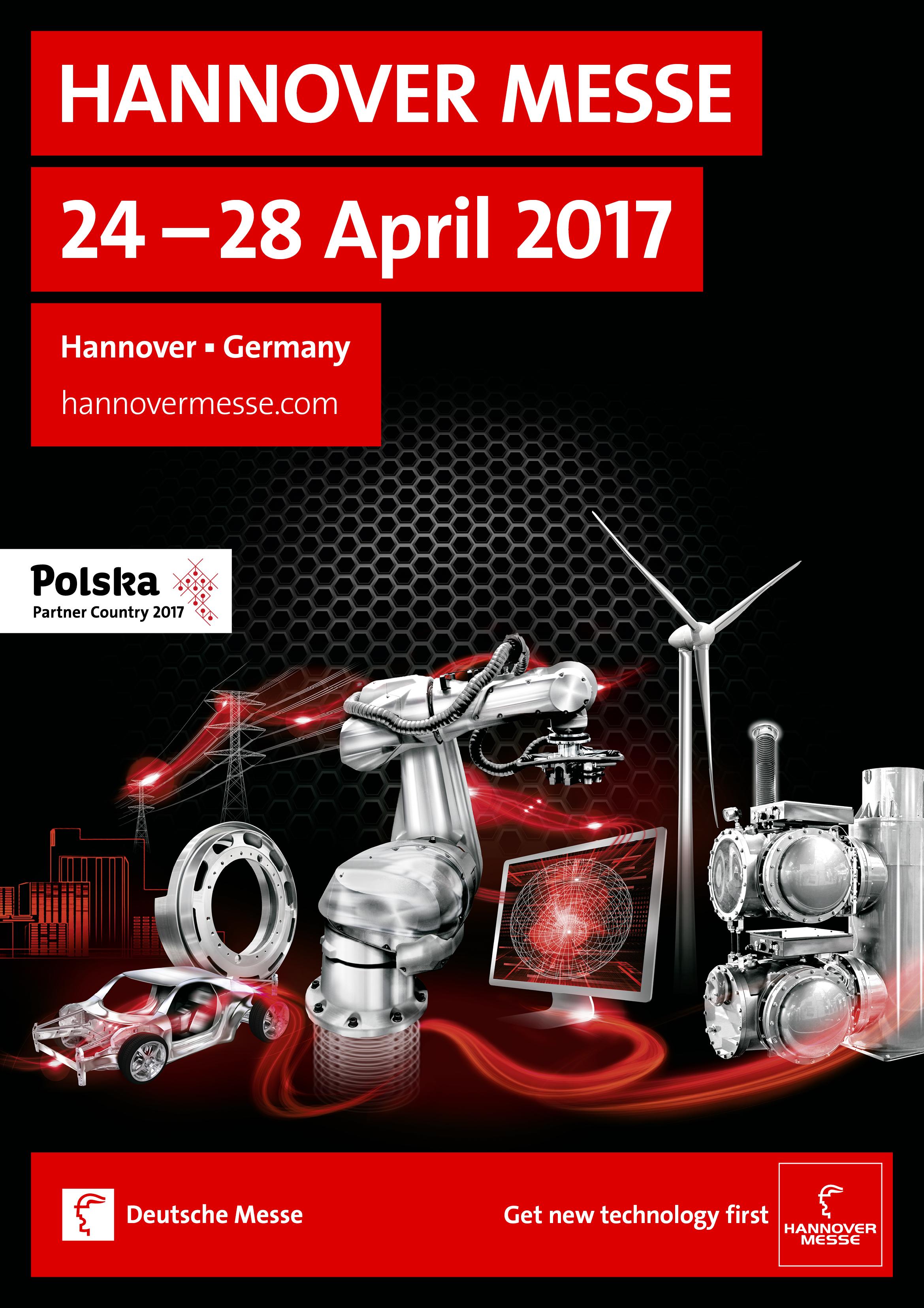 Plakat targów Hannover Messe 2017