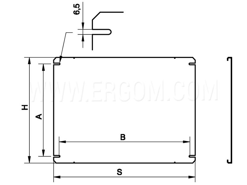 Płyta montażowa częściowa RWP1 schemat