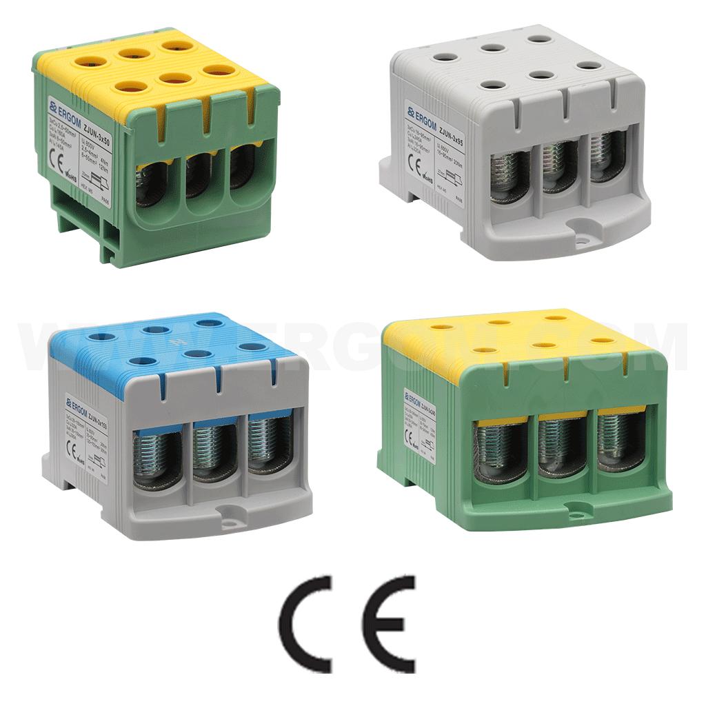 Złączki 3-torowe ZJUN-3x 750V